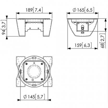 MM-PUC1065 drehbarer Deckenadapter