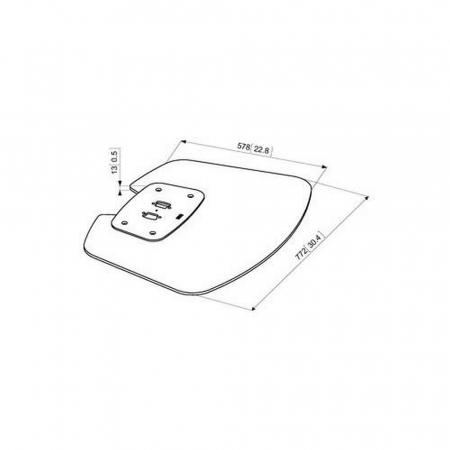 MM-PFF7020 Bodenplatte für Standfüße