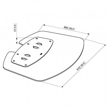 MM-PFF7030 extragroße Bodenplatte für Standfüße