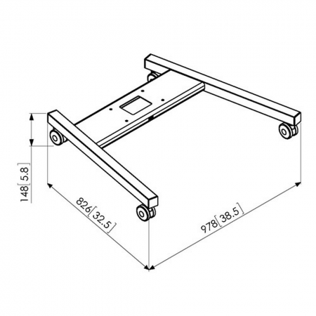 MM-PFT8520 Trolley Gestell für Rollwagen