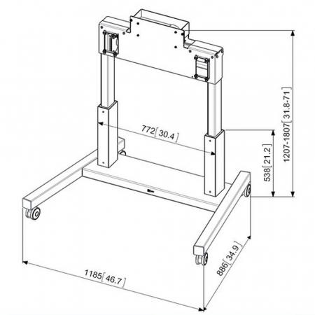MM-PFTE 7112 elektrisch verstellbare Monitorhalterung