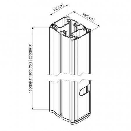 MM-PUC2715 Boden-Rohr 150 cm Länge