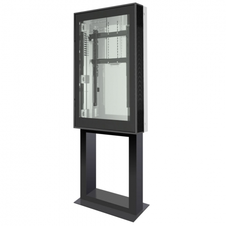 Design Outdoor Stele DOOHSTAND mit 55 Zoll Display