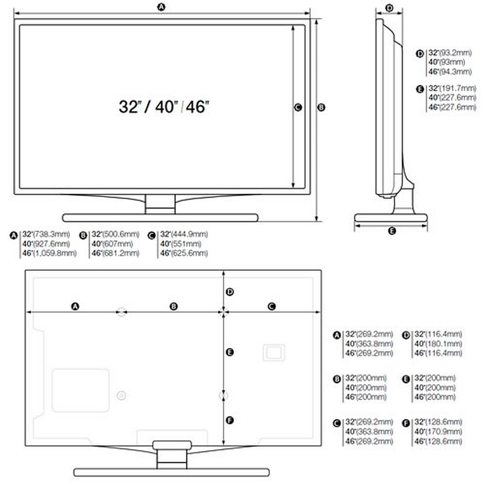 hotel tv led monitor samsung hg40ea590ls 40 zoll 102 cm. Black Bedroom Furniture Sets. Home Design Ideas