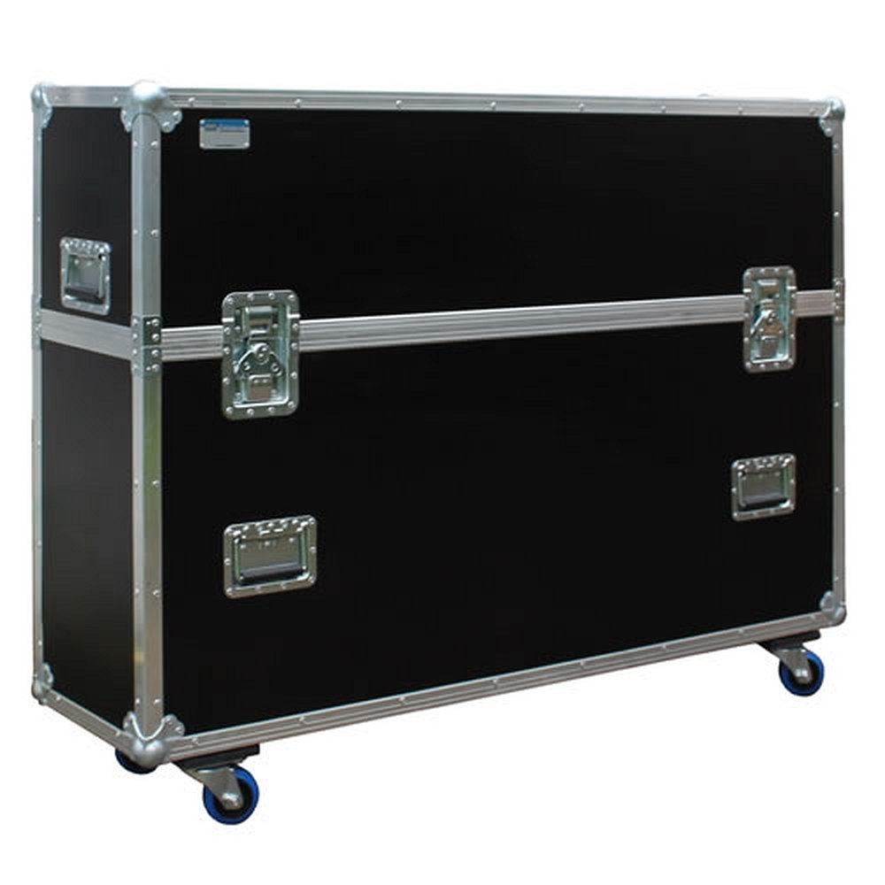 universal flightcase transportkoffer f r 42 55 zoll tv ger te. Black Bedroom Furniture Sets. Home Design Ideas