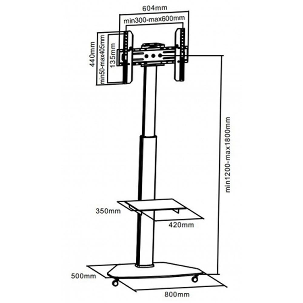 universal transportkoffer mit 49 zoll monitor und standfu. Black Bedroom Furniture Sets. Home Design Ideas