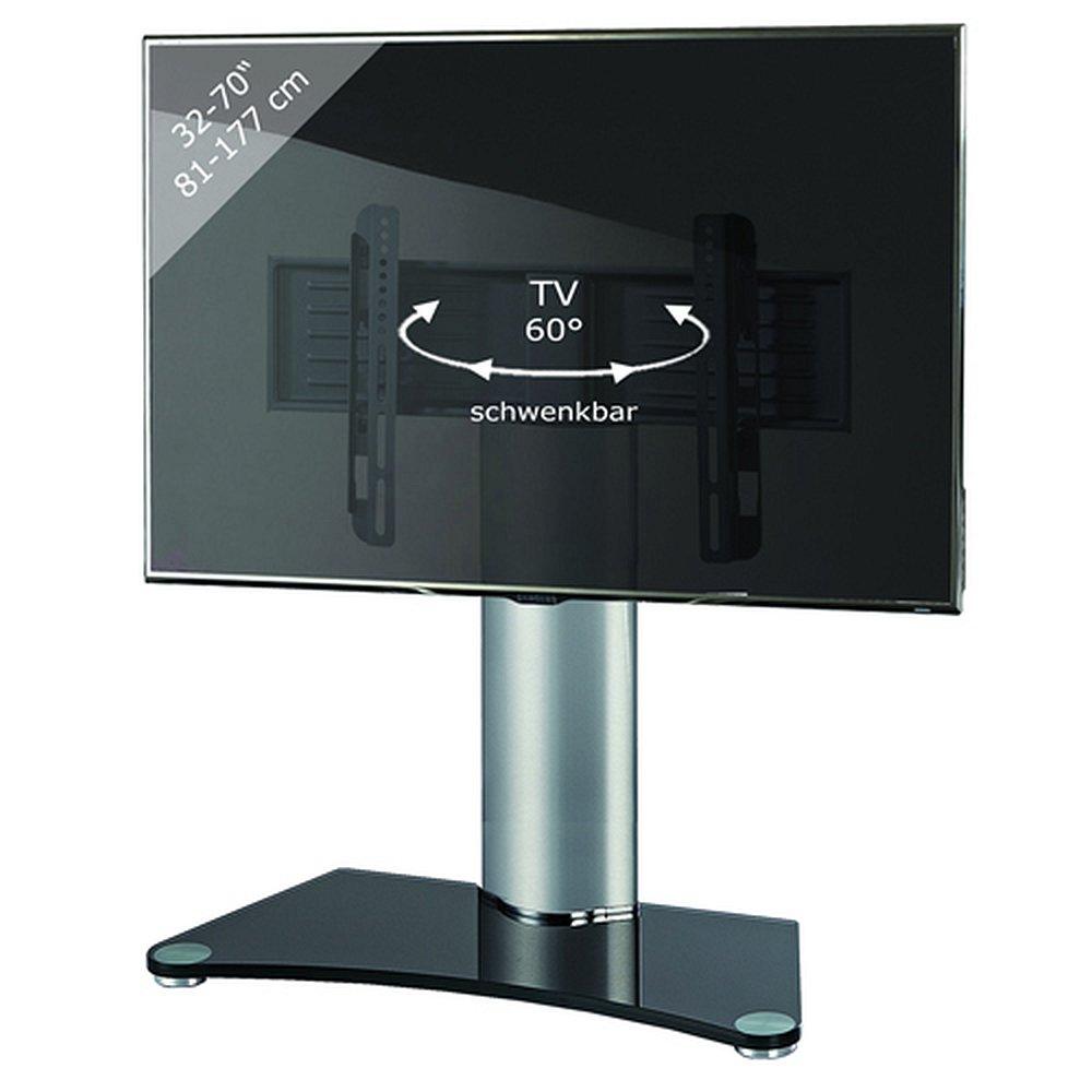 Design tisch standfu f r monitore von 32 70 zoll for Design tisch steckdosenleiste