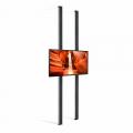 DBS55-Dual-300 LED TV Schaufensterhalterung für Displays bis 55 Zoll