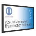 Distec Brandschutz Monitor POS-Line BLO 32 - 55 Zoll B1 Zertifiziert