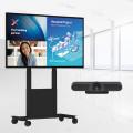 Einfaches und mobiles Videokonferenzsystem mit 55 Zoll Touch Display
