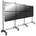 Videowall Rollwagen für 2x3 Monitore bis 42 Zoll